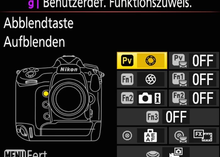 Nikon D5 Menu