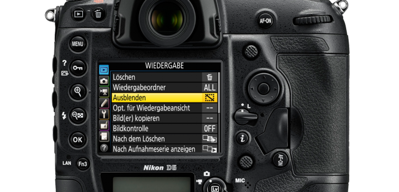 Nikon D5 Menu und meine Grundeinstellungenen