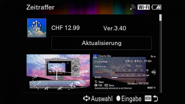 Sony A7RMII Intervalltimer