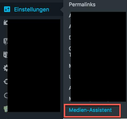 WP-Medien-Assisten-Einstellungen
