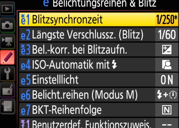 D5 Blitzsynchronisationszeit