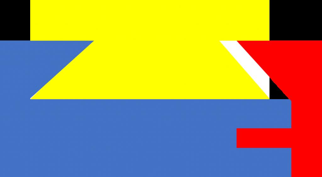 ARCA Swiss kompatible: Zu schmale Schiene in zu breiter Klemme: Die gelbe Schiene passt insgesamt nicht in die maximal angezogene (blau-rote) Klemme und rutscht durch.