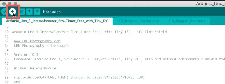 Arduino-Entwicklungsumgebung die Software auf den Ardunio Uno hochladen/schreiben