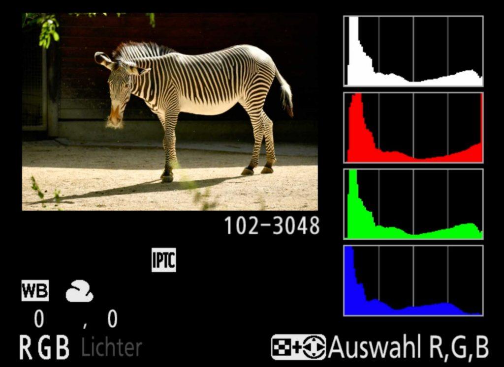 Zebra-Histogramm