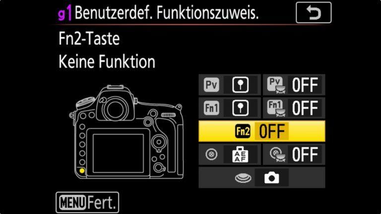 NIKON D850 Button Fn2