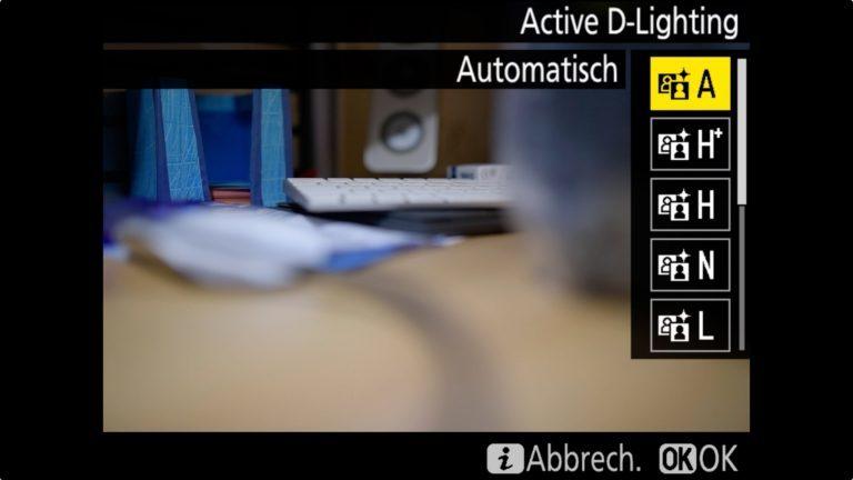 Nikon D850 Active D-Lightning