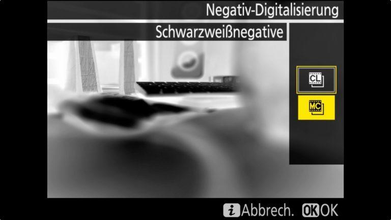 Nikon D850 Negative Digitalisierung SW