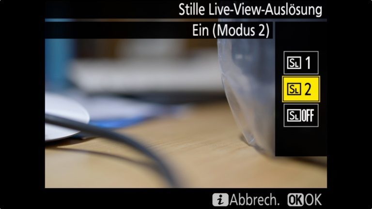 Nikon D850 Stille Live View Modus