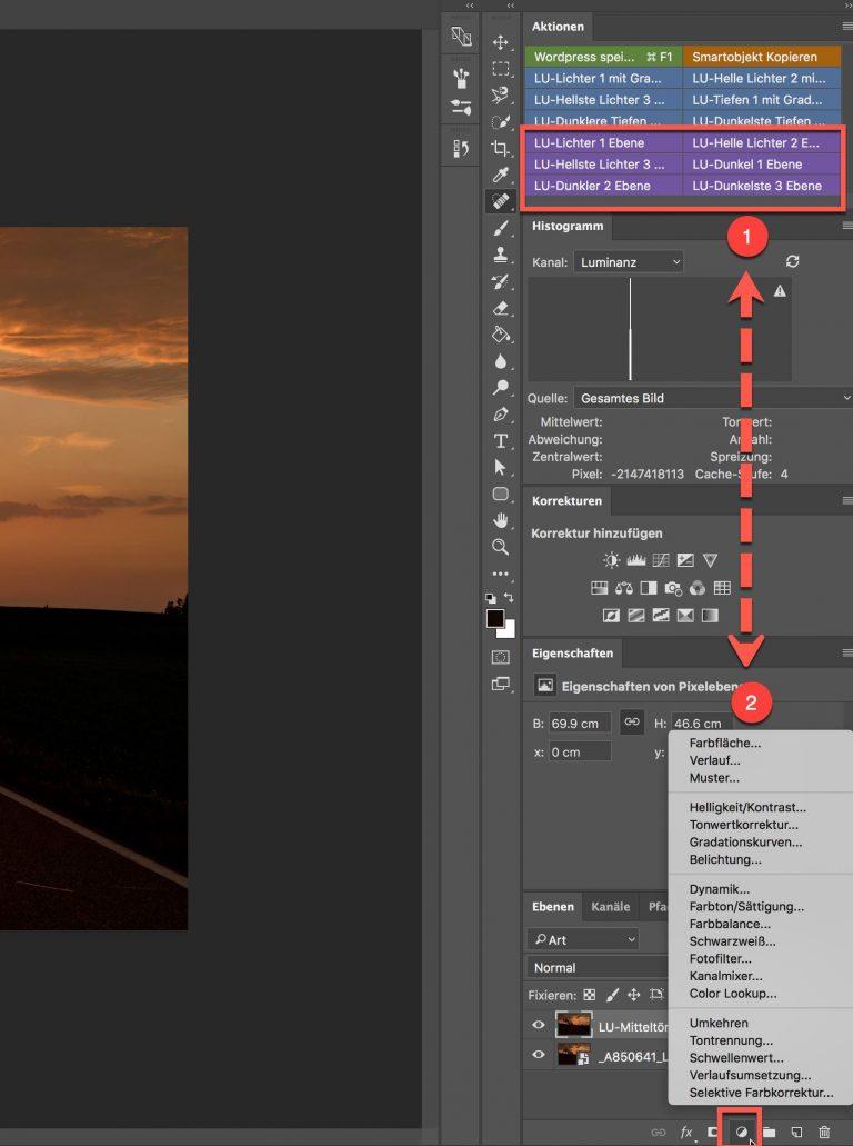 Photoshop-Aktion – ALPHA Kanäle mit anderen Funktionen kombinieren