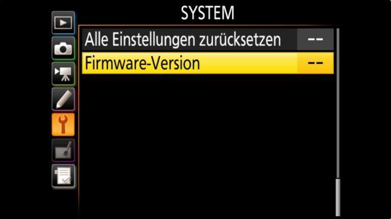 Nikon D850 Firmware-Update 1.01 – Nikon Menu – update starten