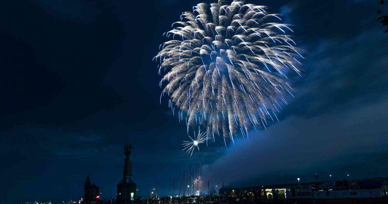 Feuerwerk, Rapperswill, Jona, Konstanz, Das kleine Foto 1 X 1