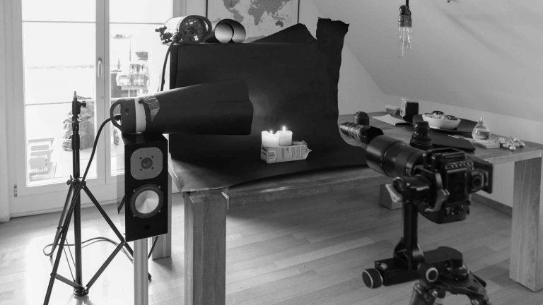 Setup Rauchfotografie