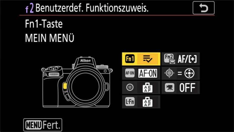 Nikon Z7 Menü