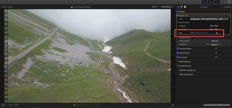 Color Grading 3D LUTs zur Farbkorrektur in Final Cut Pro X